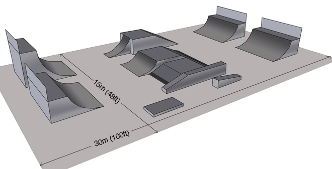 Portable Skate Park Equipment : Portable skatepark for coaching display competition